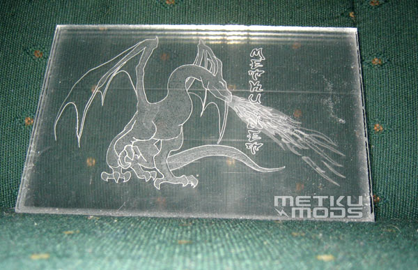 Dragon engraved