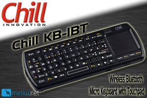 Chill Innovation KB-1BT keyboard/touchpad combo with Bluetooth