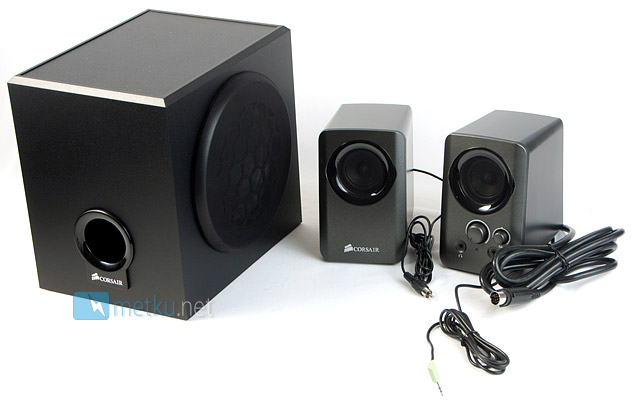 Corsair SP2200 2.1 PC Speaker System - Stylish 2.1 setup for your gaming system