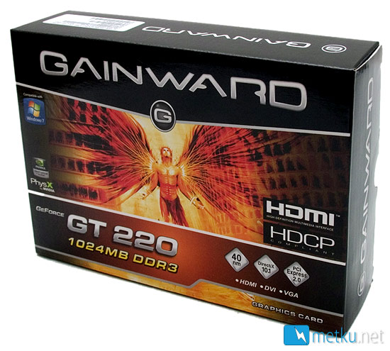 Gainward GeForce GT220 1024MB Budget card for light work