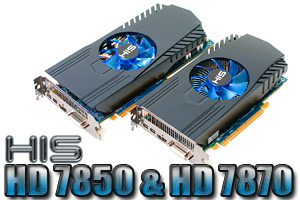 HIS HD 7850 & HD 7870 GHz Edition Graphics Cards