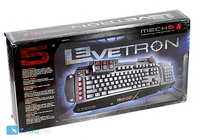 AZIO Levetron Mech5 Gaming Keyboard - Futuristic design for futuristic gamers