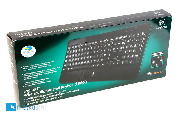 Logitech Wireless Illuminated Keyboard K800 - A very stylish wireless keyboard