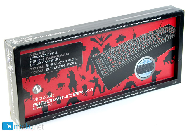 Microsoft Sidewinder X4 Gaming Keyboard - Gaming keyboard with style in mind