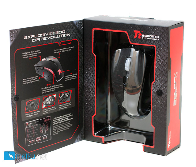 TTeSports Black Element Gaming Mouse - High-end gaming mouse